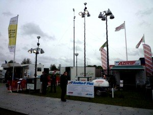 The Etherlive outdoor stand with the Ecolite P Plus and Mobile Command Centre (MCC)
