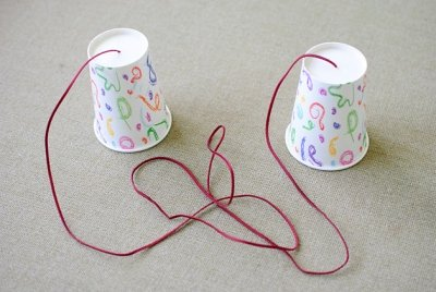 Photo of cups and string